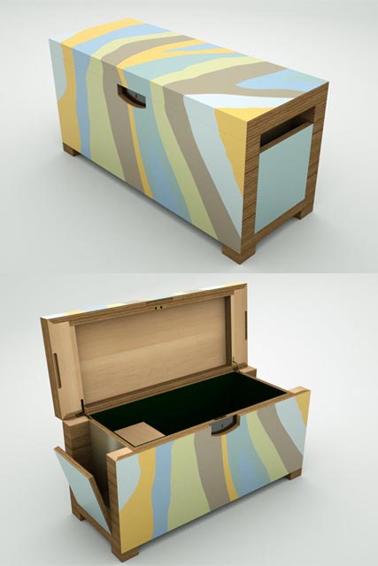 ANGELO Storage Box © Peter Stern Furniture Design