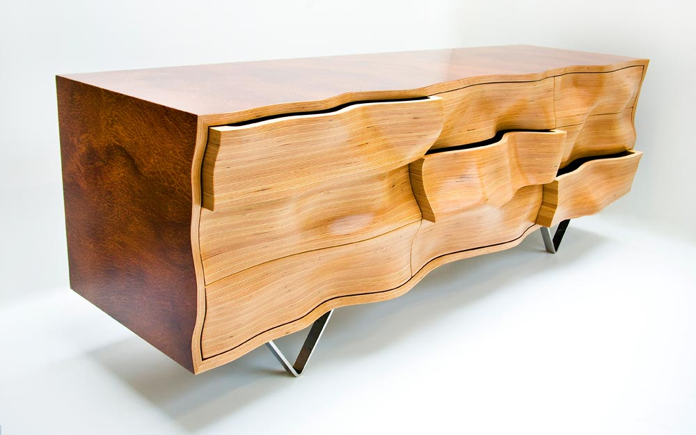 WAVY C1 Console © Peter Stern Furniture Design